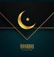 ramadan kareem islamic festival greeting design vector image vector image