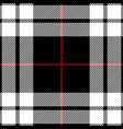red black and white tartan plaid seamless pattern vector image vector image