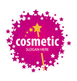 red logo of the stars for cosmetics vector image vector image