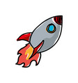 rocket cartoon doodle vector image vector image