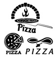 set for pizzeria or Italian restaurant vector image vector image