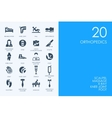 Set of BLUE HAMSTER Library orthopedics icons vector image vector image