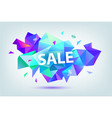 set of sale faceted geometric banners vector image vector image