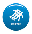 short track icon blue vector image