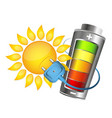 sun and battery charging vector image