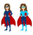 super heroine mascot vector image