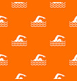 swimmer pattern seamless vector image vector image