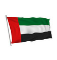 united arab emirates flag on pole in wind vector image