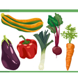 vegetables cartoon set vector image vector image