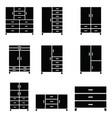 wardrobe icon set vector image vector image