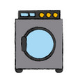 washer laundry machine vector image