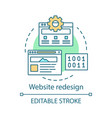 website redesign concept icon vector image