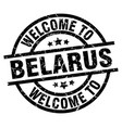 welcome to belarus black stamp vector image vector image