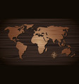world map wooden on the wall wooden vector image vector image