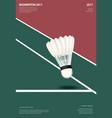 badminton championship poster vector image