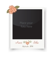 Retro wedding greeting cards Template for photo vector image