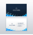abstract modern blue business card design vector image vector image