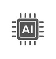ai cpu artificial intelligence concept - computer vector image vector image