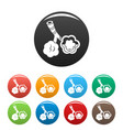 alveolus disease icons set color vector image vector image