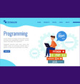 background for programming landing page vector image