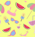 beach seamless pattern summer accessories on vector image vector image