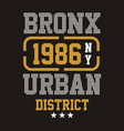 bronx urban district vector image vector image
