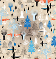 Christmas texture winter forest vector image