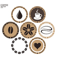 Coffee Isolated label on white background vector image vector image