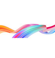colorful flow brush stroke ribbon isolated line vector image vector image