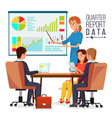 corporate business meeting woman manager vector image vector image