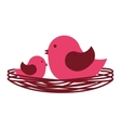 cute bird red icon vector image