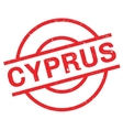 Cyprus rubber stamp vector image vector image