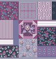decorative composition in style patchwork vector image vector image