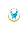 dental logo template icon design vector image vector image