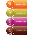 drinks label vector image