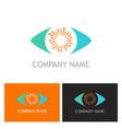 eye vision logo vector image