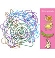 find hidden objects and shapes educational game vector image