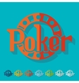Flat design poker vector image