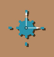 flat icon design collection gear and watches in vector image vector image