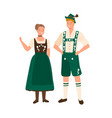 german couple wearing traditional bavarian vector image vector image