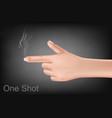 hand making gesture shooting gun vector image vector image