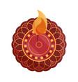 happy bhai dooj mandala floral burning flame vector image vector image