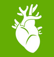 heart icon green vector image