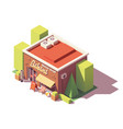 isometric beach shop vector image vector image