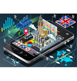 Isometric Infographic of Great Britain on Mobile vector image vector image