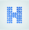 letter h logo halftone icon vector image vector image