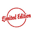 limited edition sign limited edition round vector image vector image