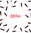 lipstick border on white background beauty vector image vector image