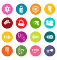 lock door types icons set colorful circles vector image