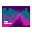 Luminescent city background vector image